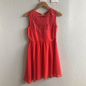 Coral Lace ModCloth Bridesmaid Dress